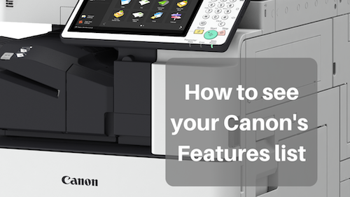 How to Find your Canon's Configuration Page