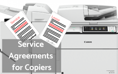 Service Agreements for Copiers/Plotters