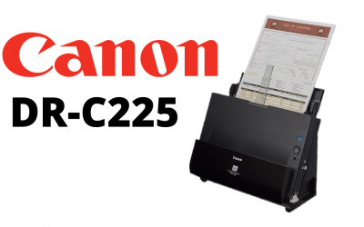 Sleek, Mid-duty Office Scanner, the Canon DR-C225