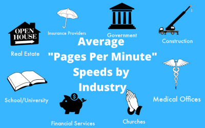 "The Average ""Pages-Per-Minute"" Speed for Copiers By Industry"